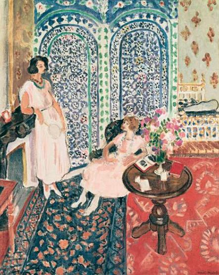 Анри Матисс, The moorish screen, 1921, работа