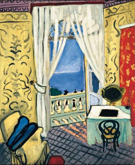 interior with a violin case, 1934