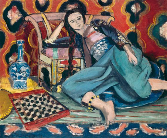 odalisque with a turkish chair, 1927-28