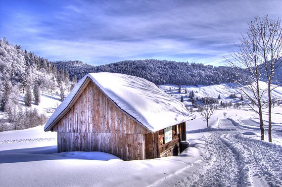 Черный Лес (Schwarzwald, Шварцвальд) зимой, фото - by Fotoelfe (flickr.com)