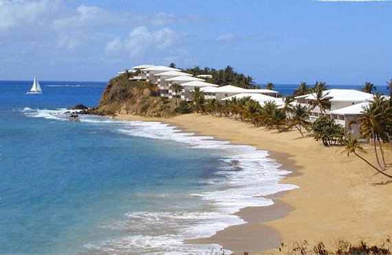 Мыс отеля Curtain Bluff, карибские острова фото