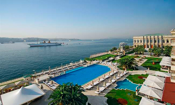 Ciragan Palace Kempinski and Bosphorus