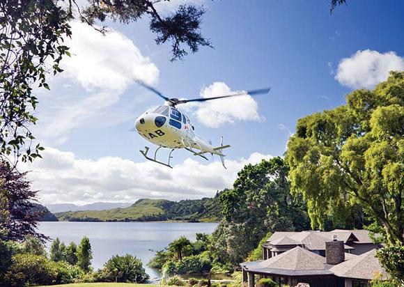 Вертолет отеля Lake Okareka Lodge