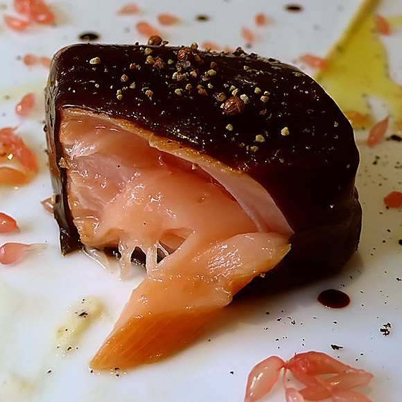Salmon in Licorice Gel