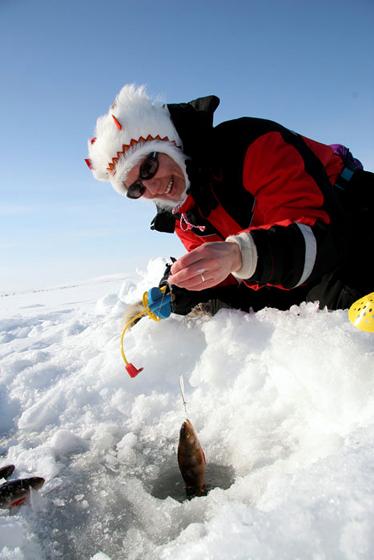 подледная рыбалка в Лапландии