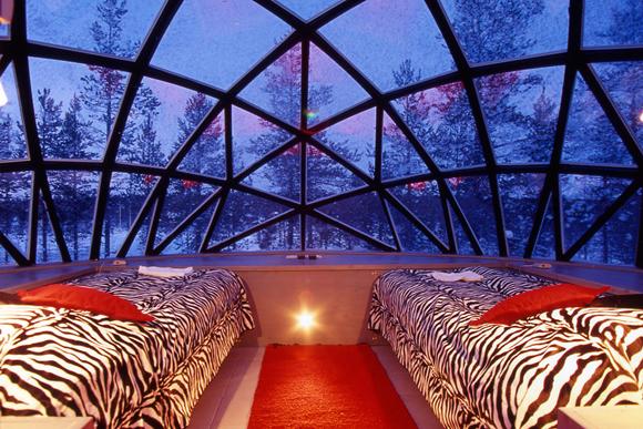 отель Kakslauttanen в Лапландии, иглу стеклянный