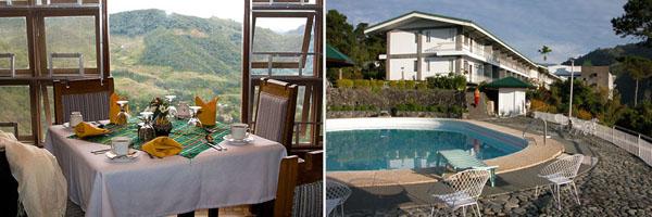 Слева ресторан Imbayah, справа Отель Banaue Hotel