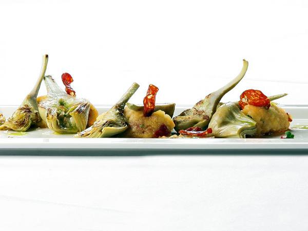 Alcachofas de la Ribera del Ebro con chorizo y patata de Cella